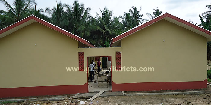 Completed 6 Unit Classroom Block at Oblogo